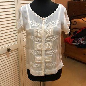 Off white Anthropologie blouse